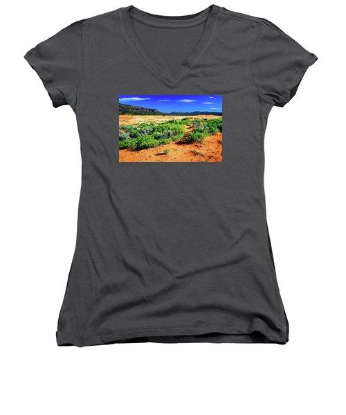 Coral Pink Sand Dunes Women's V-Neck T-Shirt