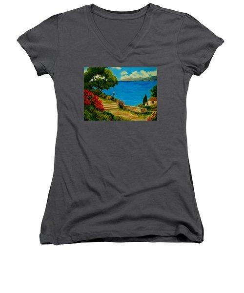Corfu-greece Women's V-Neck T-Shirt