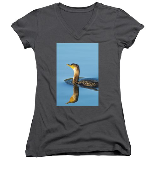 Cormorant Reflection Women's V-Neck
