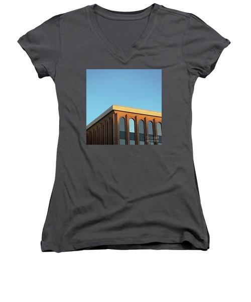 Corner Light Women's V-Neck T-Shirt (Junior Cut) by Sebastian Mathews Szewczyk