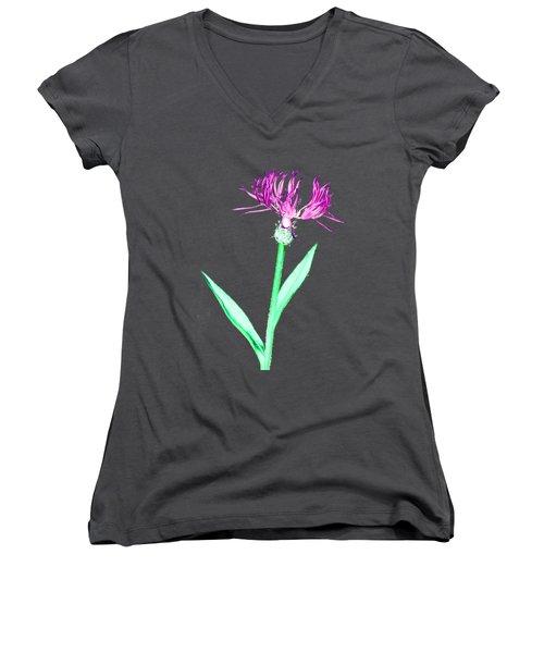 Cornflower3 T-shirt Women's V-Neck