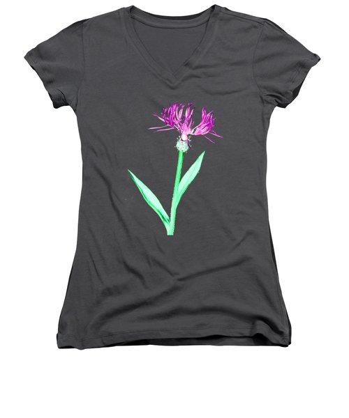 Cornflower3 T-shirt Women's V-Neck (Athletic Fit)