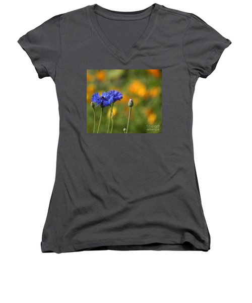 Cornflowers -2- Women's V-Neck