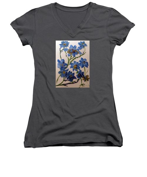 Cornflowers Cousins Women's V-Neck (Athletic Fit)