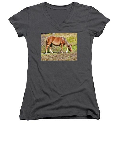 Corolla's Wild Horses Women's V-Neck (Athletic Fit)