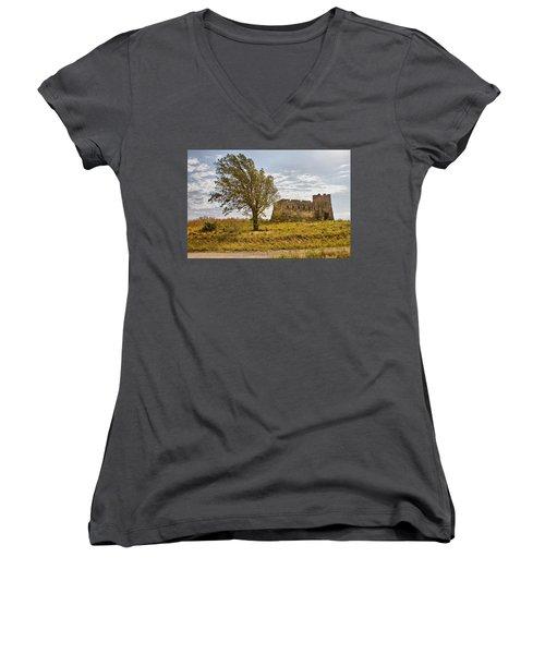 Coronado Hights Lookout  Women's V-Neck T-Shirt (Junior Cut) by Betty Pauwels