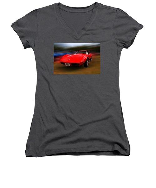 Corvette Stingray Women's V-Neck T-Shirt