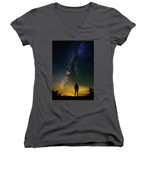 Cosmic Contemplation Women's V-Neck