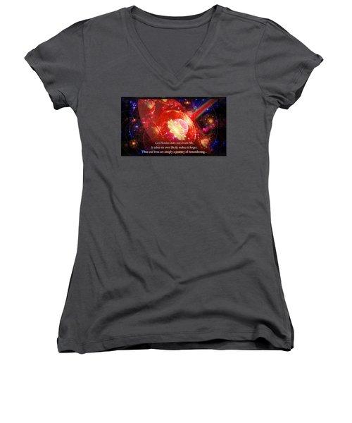 Cosmic Inspiration God Source 2 Women's V-Neck