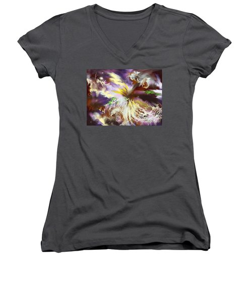 The Flowering Of The Cosmos Women's V-Neck T-Shirt
