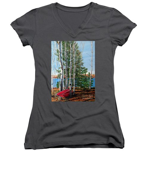 Cottage Country 2 Women's V-Neck (Athletic Fit)