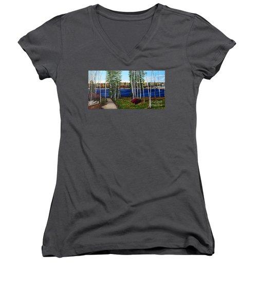 Cottage Life Women's V-Neck T-Shirt (Junior Cut)