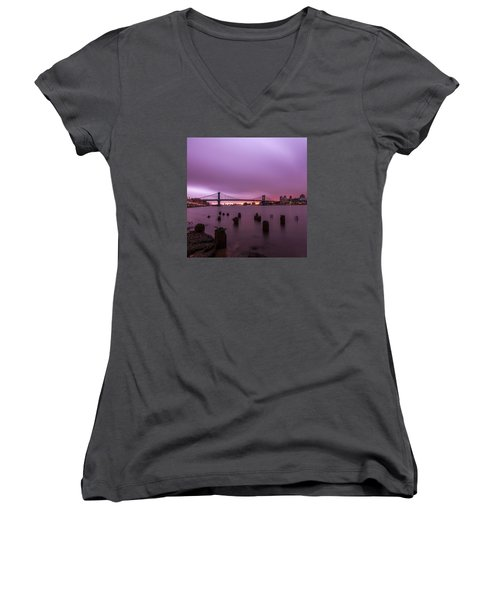 Cotton Candy  Women's V-Neck T-Shirt (Junior Cut) by Anthony Fields