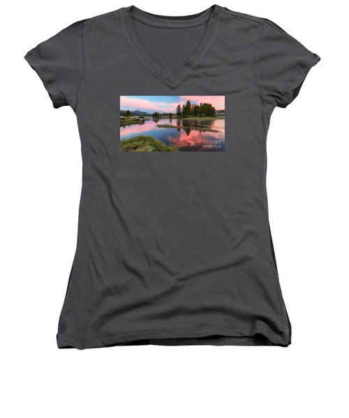 Cotton Candy Skies Women's V-Neck (Athletic Fit)