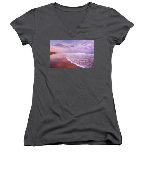 Cotton Candy Sunset. Women's V-Neck (Athletic Fit)