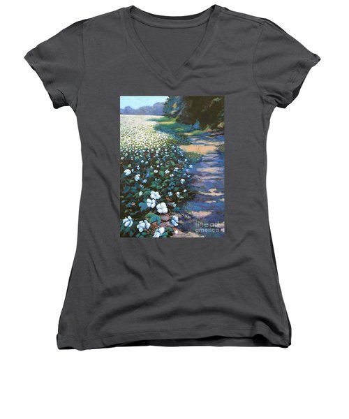 Cotton Field Women's V-Neck (Athletic Fit)