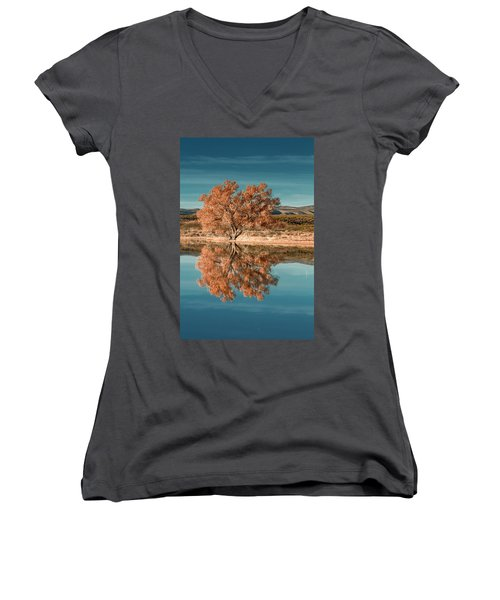 Cotton Wood Tree  Women's V-Neck