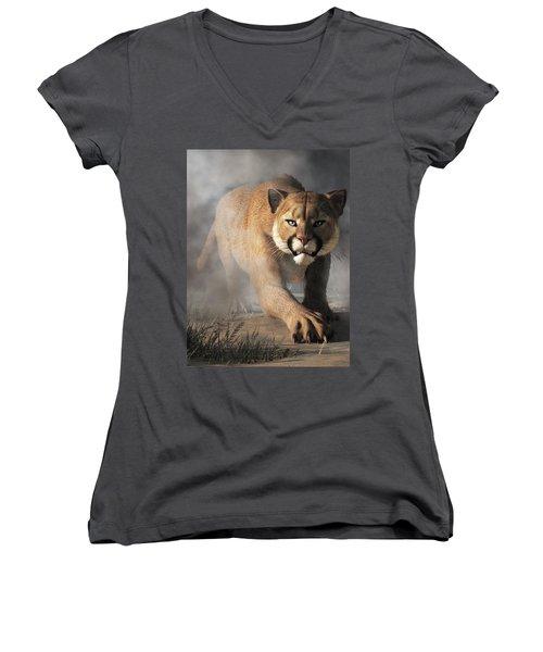 Cougar Is Gonna Get You Women's V-Neck (Athletic Fit)