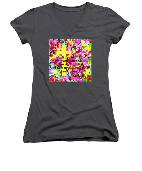 Counting The Cost Women's V-Neck T-Shirt
