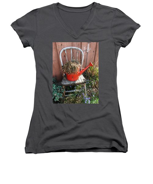 Country Charm Women's V-Neck T-Shirt (Junior Cut) by Janice Adomeit