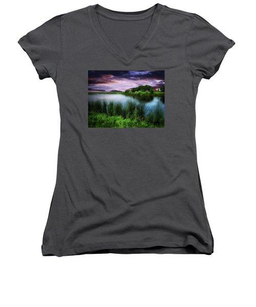 Country Lake Women's V-Neck T-Shirt