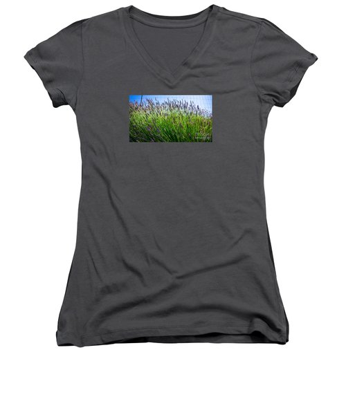 Country Lavender II Women's V-Neck (Athletic Fit)