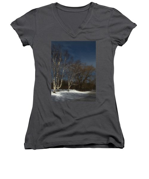 Country Roadside Birch Women's V-Neck (Athletic Fit)