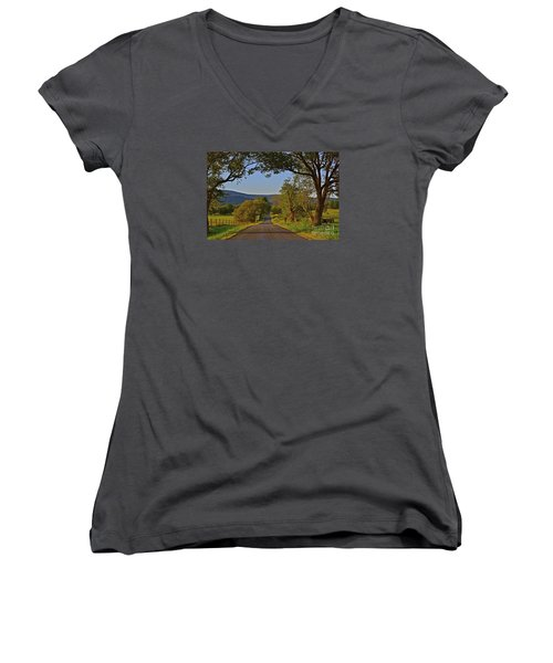 Country Roads Women's V-Neck T-Shirt