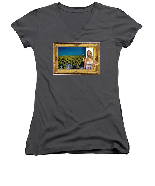 Cover Art For Gallery-nfs Women's V-Neck (Athletic Fit)