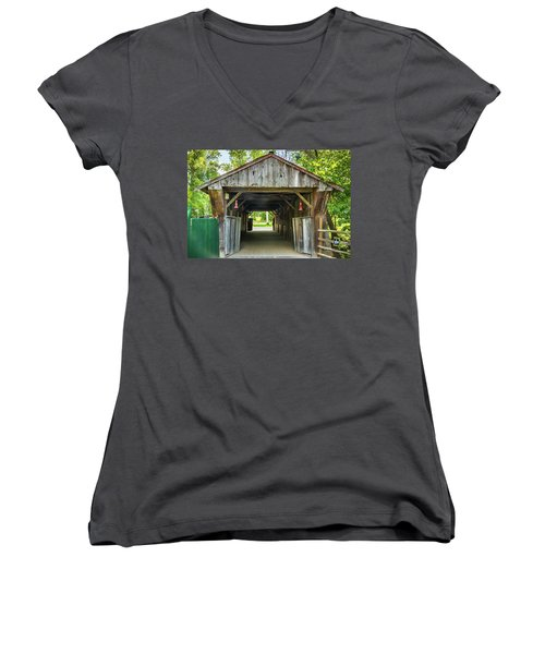 Covered Bridge Hdr Women's V-Neck (Athletic Fit)
