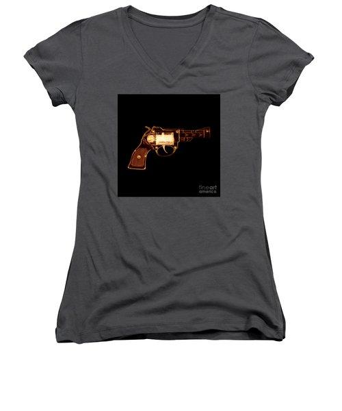 Cowboy Gun 002 Women's V-Neck