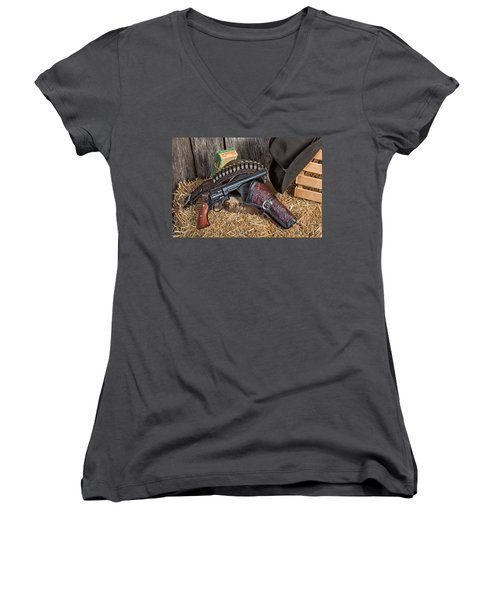 Cowboy Gunbelt Women's V-Neck