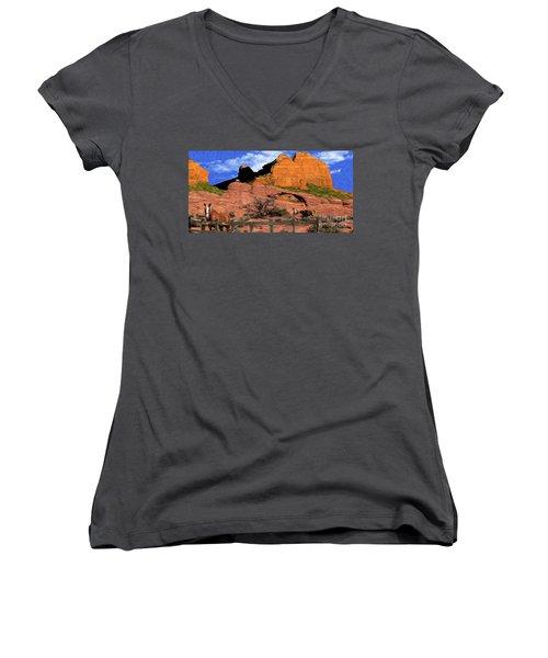 Cowboy Sedona Ver3 Women's V-Neck T-Shirt