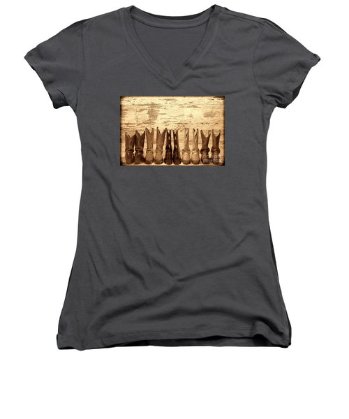 Cowgirls Night Out Women's V-Neck
