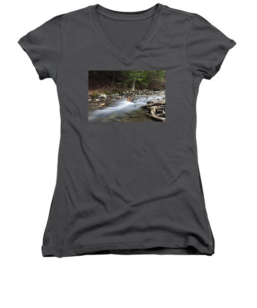 Coxing Kill In February #1 Women's V-Neck T-Shirt (Junior Cut) by Jeff Severson