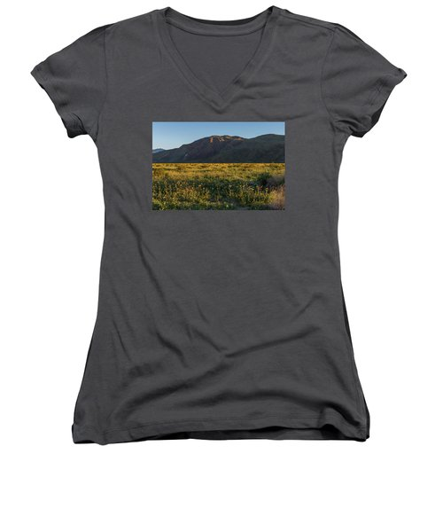 Coyote Mountain And Henderson Canyon Road Women's V-Neck