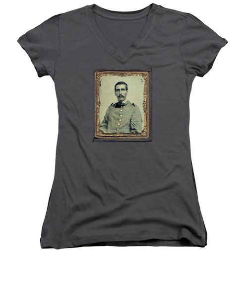 Cprl. Thomas G. West, Csa Women's V-Neck T-Shirt
