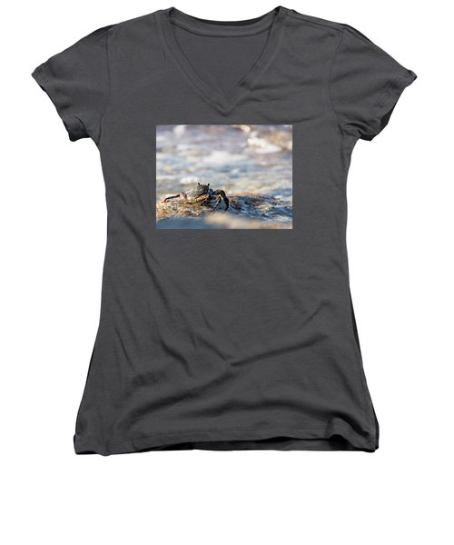Crab Looking For Food Women's V-Neck