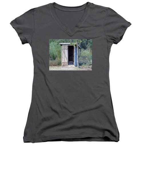 Cracker Out House Women's V-Neck