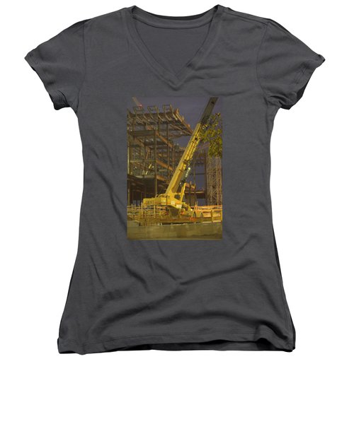 Craning And Working Women's V-Neck