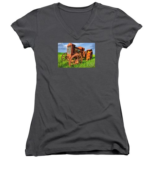 Crank And Plow II Women's V-Neck (Athletic Fit)