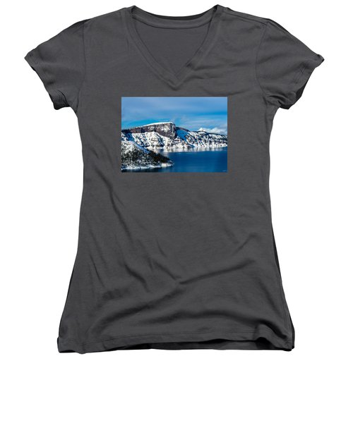 Crater Lake Women's V-Neck (Athletic Fit)