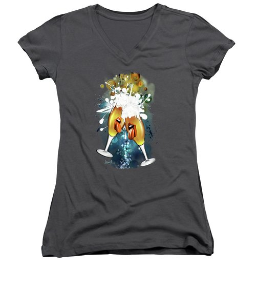 Crazy Beers Women's V-Neck T-Shirt