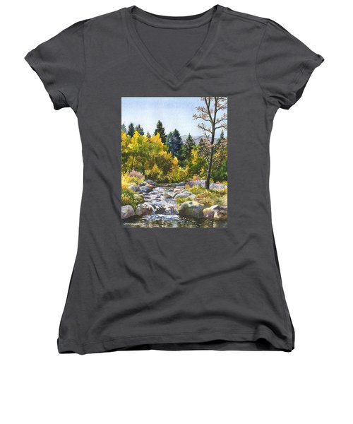 Creek At Caribou Ranch Women's V-Neck (Athletic Fit)