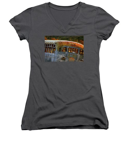 Women's V-Neck T-Shirt (Junior Cut) featuring the photograph Creepers by Trish Mistric