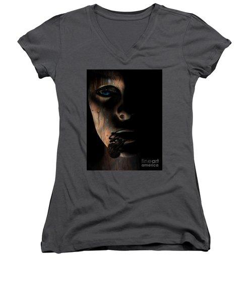 Creepy Women's V-Neck T-Shirt