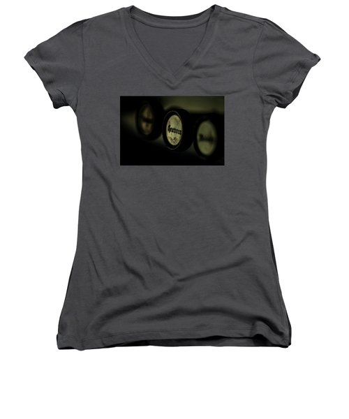 Women's V-Neck T-Shirt (Junior Cut) featuring the photograph Cremona by Jay Stockhaus