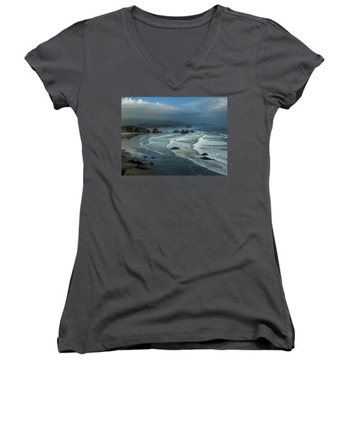 Crescent Beach And Surf Women's V-Neck