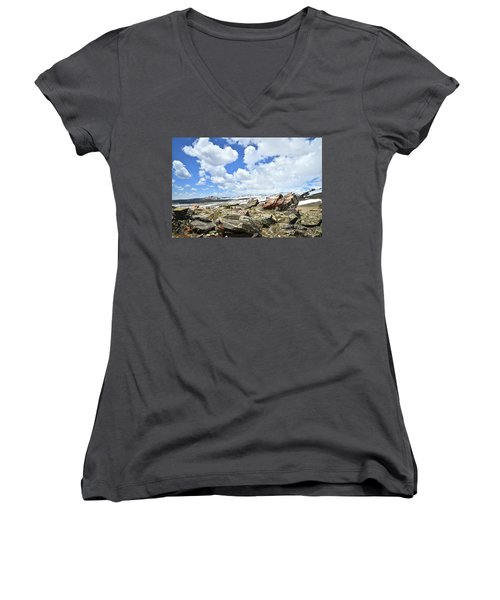 Crest Of Big Horn Pass In Wyoming Women's V-Neck