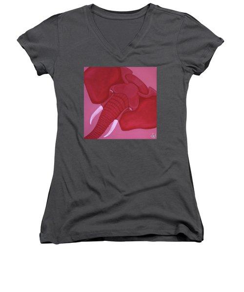 Crimson Elephant Women's V-Neck T-Shirt